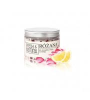 Fresh & Natural, RÓŻANA sól do kąpieli z różą i cytryną, 500g