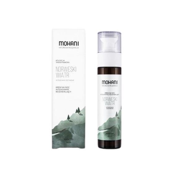 Mohani, Norweski Wiatr, Intensywnie regenerujący krem do twarzy na noc, 50 ml