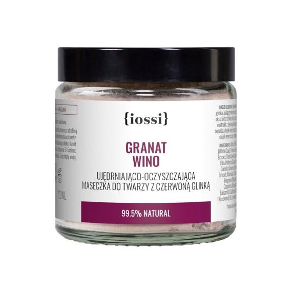 IOSSI, Maseczka do twarzy z czerwoną glinką Granat & Wino, 120 ml