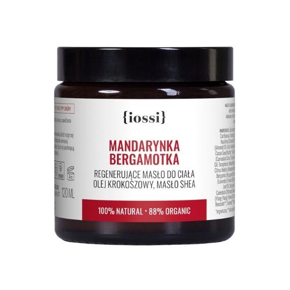 IOSSI, Regenerujące masło do ciała Mandarynka & Bergamotka, 120 ml