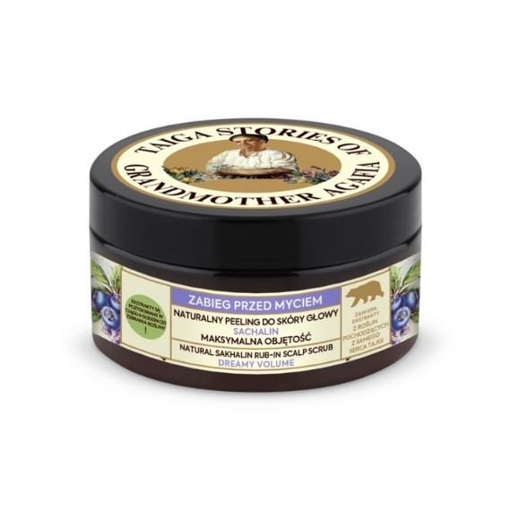 Receptury Babuszki Agafii, Taiga Stories, Naturalny peeling do skóry głowy - maksymalna objętość, 100 ml