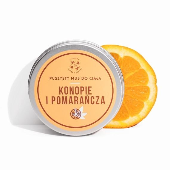 Mydlarnia Cztery Szpaki, Mus do ciała Konopie i Pomarańcza, 150 ml