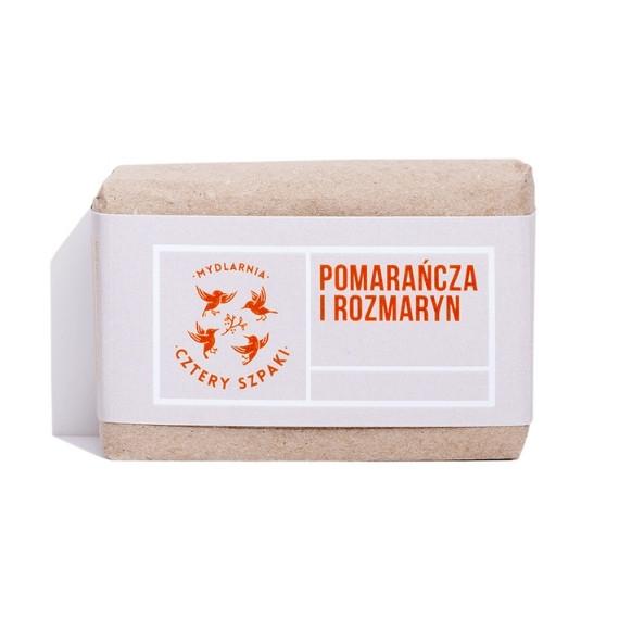 Mydlarnia Cztery Szpaki, Naturalne mydło – Pomarańcza i Rozmaryn, 110 g
