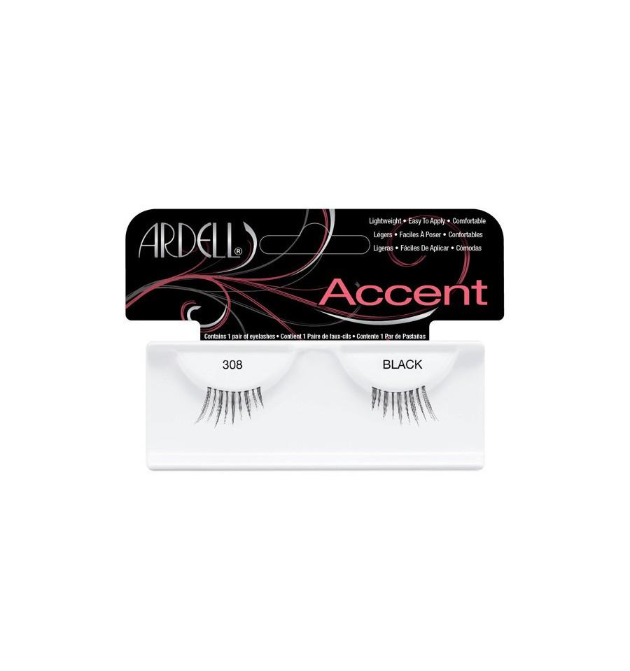 Ardell Accent 308 Black, Rzęsy połówki