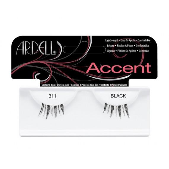 Ardell Accent 311 Black, Rzęsy połówki