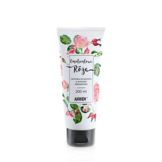 Anwen, Emolientowa Róża, Odżywka do włosów o wysokiej porowatości, 200 ml