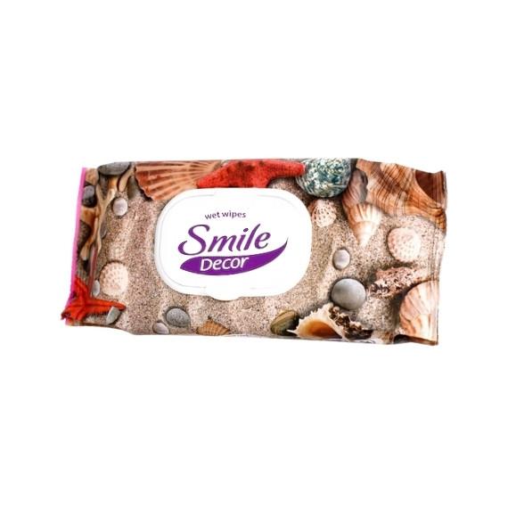 Smile Decor, Antybakteryjne chusteczki nawilżane, 60 szt