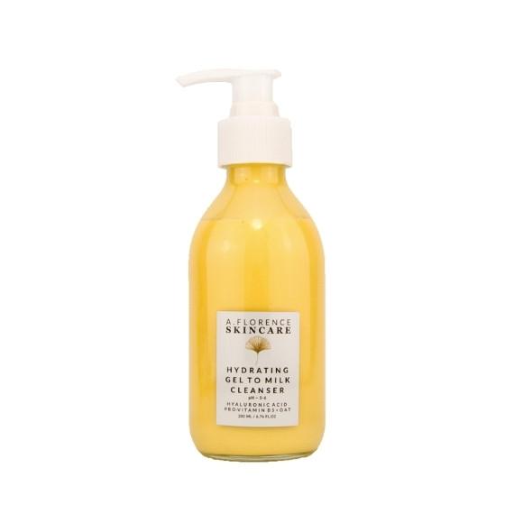 A.Florence Skincare, Hydrating Gel to Milk Celanser, Nawilżający Żel Myjący, 200 ml