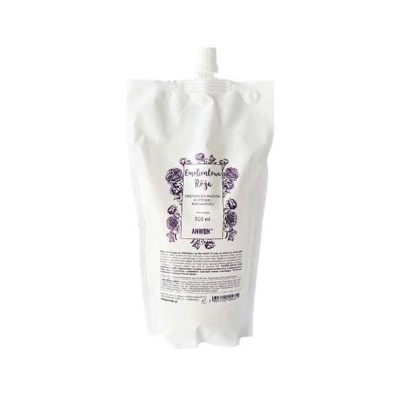 Anwen, Emolientowa Róża, Odżywka do włosów o wysokiej porowatości, opakowanie uzupełniające - refill 500 ml