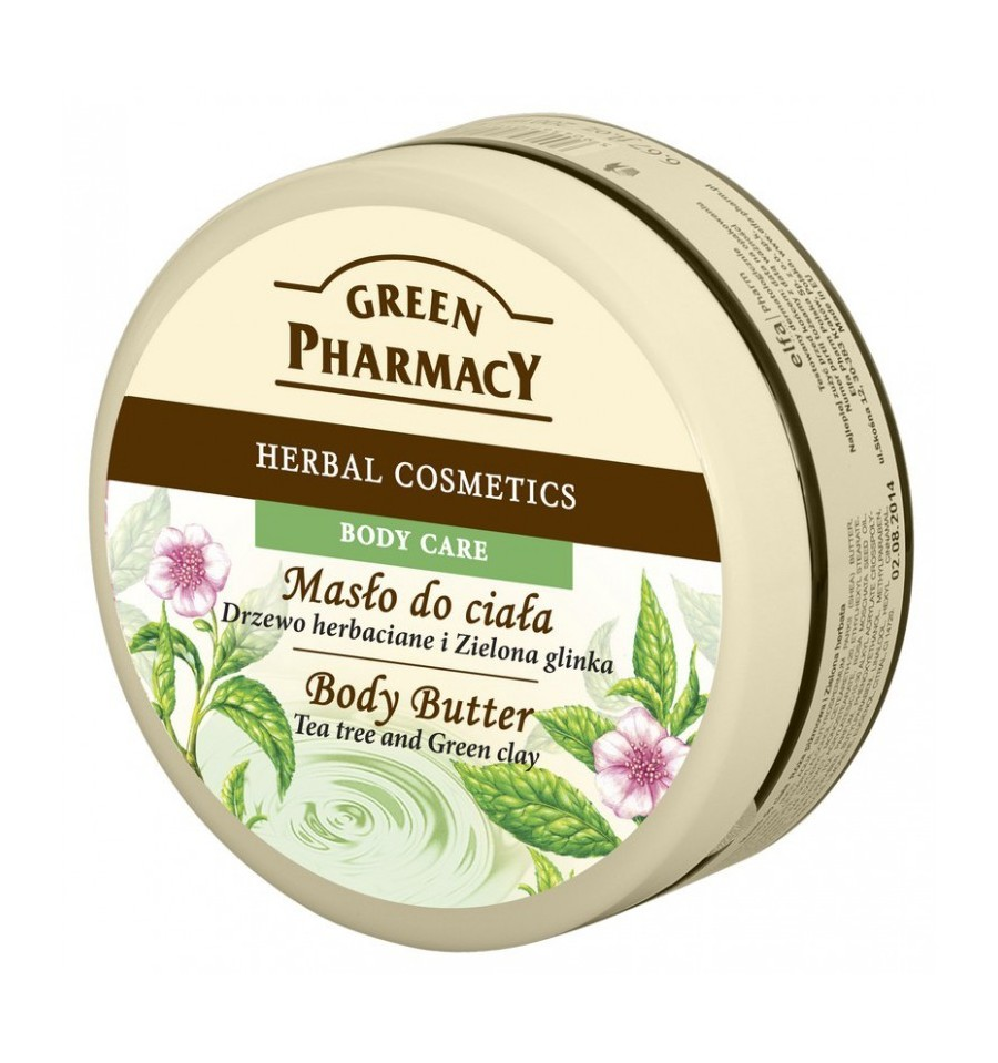 Green Pharmacy, Masło do ciała Drzewo Herbaciane i Zielona Glinka, 200 ml