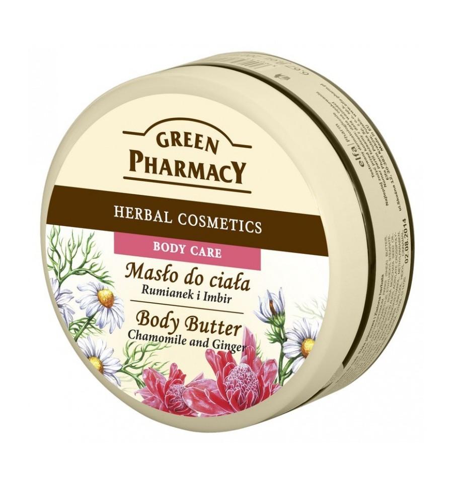 Green Pharmacy, Masło do ciała Rumianek i Imbir, 200 ml