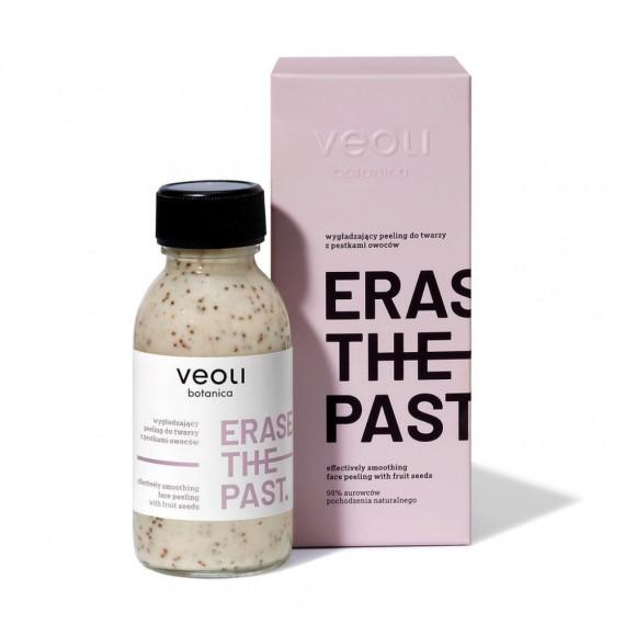 Veoli Botanica, ERASE THE PAST, Wygładzający peeling z pestkami owoców do twarzy, 90 ml