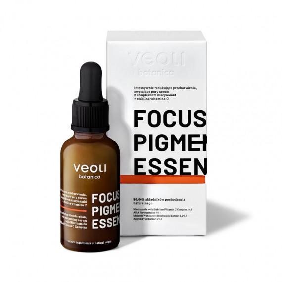 Veoli Botanica, FOCUS PIGMENTATION ESSENCE, Intensywnie redukujące przebarwienia, zwężające pory serum, 30 ml