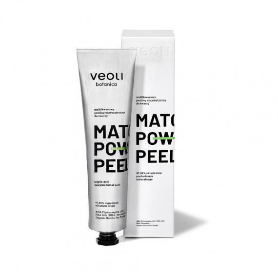 Veoli Botanica, MATCHA POWER PEEL, Multikwasowy peeling enzymatyczny do twarzy, 75 ml
