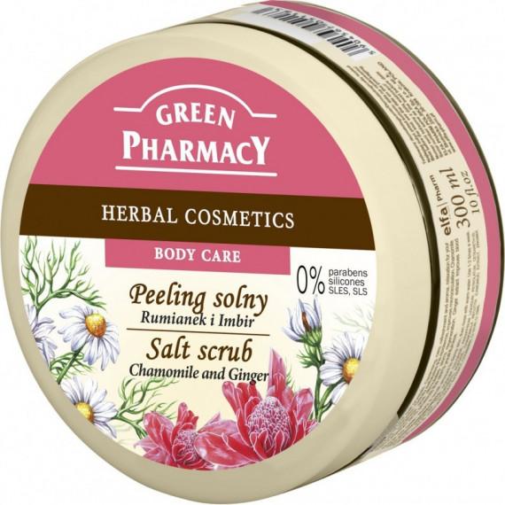 Green Pharmacy, Peeling solny Rumianek i Imbir, 300 ml