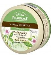 Green Pharmacy, Peeling solny Drzewo herbaciane i Zielona glinka, 300 ml