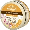 Green Pharmacy, Peeling cukrowy Miód i Rooibos, 300 ml