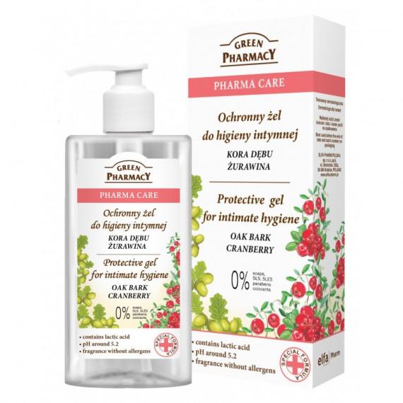 Green Pharmacy, Ochronny płyn do higieny intymnej Kora Dębu, Żurawina, 300 ml