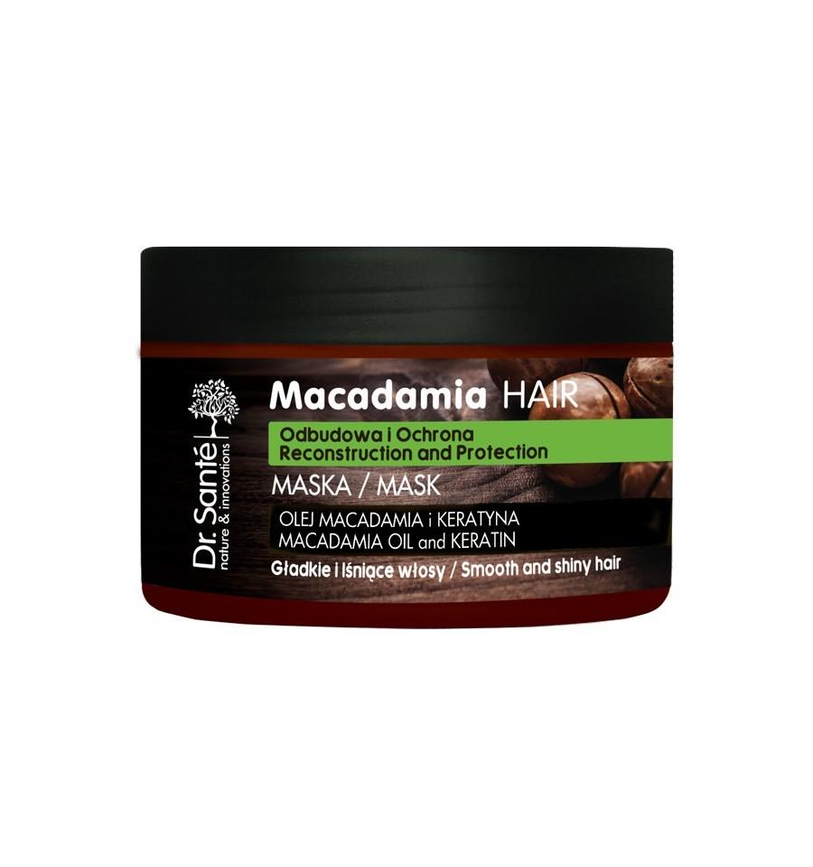 Dr. Sante, Maska do włosów z olejem macadamia i keratyną odbudowująca, 300 ml