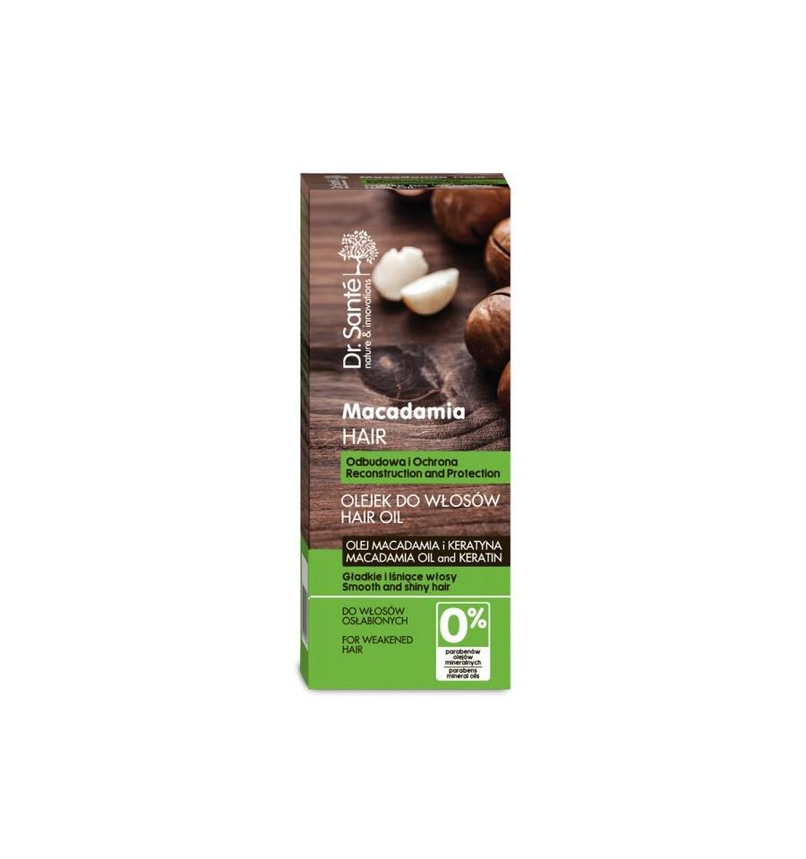 Dr. Sante, Olejek do włosów odbudowujący z olejem macadamia i keratyną, 50 ml