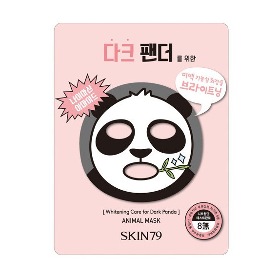 Skin79, Animal Mask for Dark Panda, Wybielająca maska do twarzy