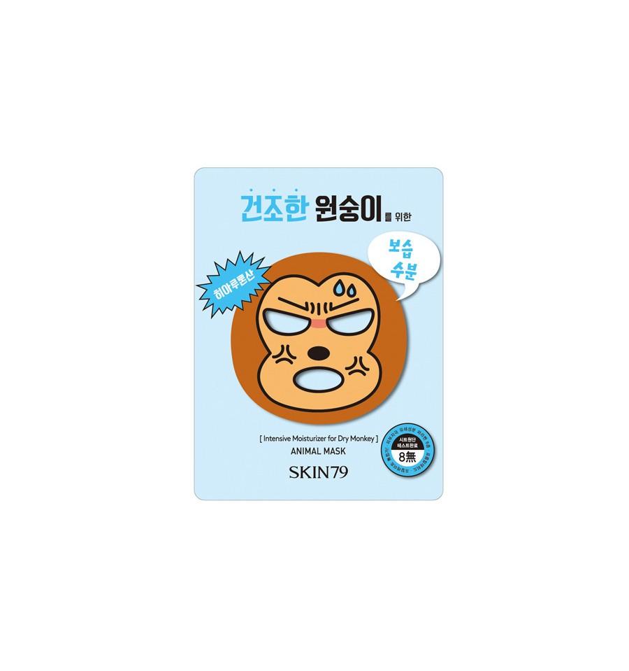 Skin79, Animal Mask for Dry Monkey, Maska silnie nawilżająca