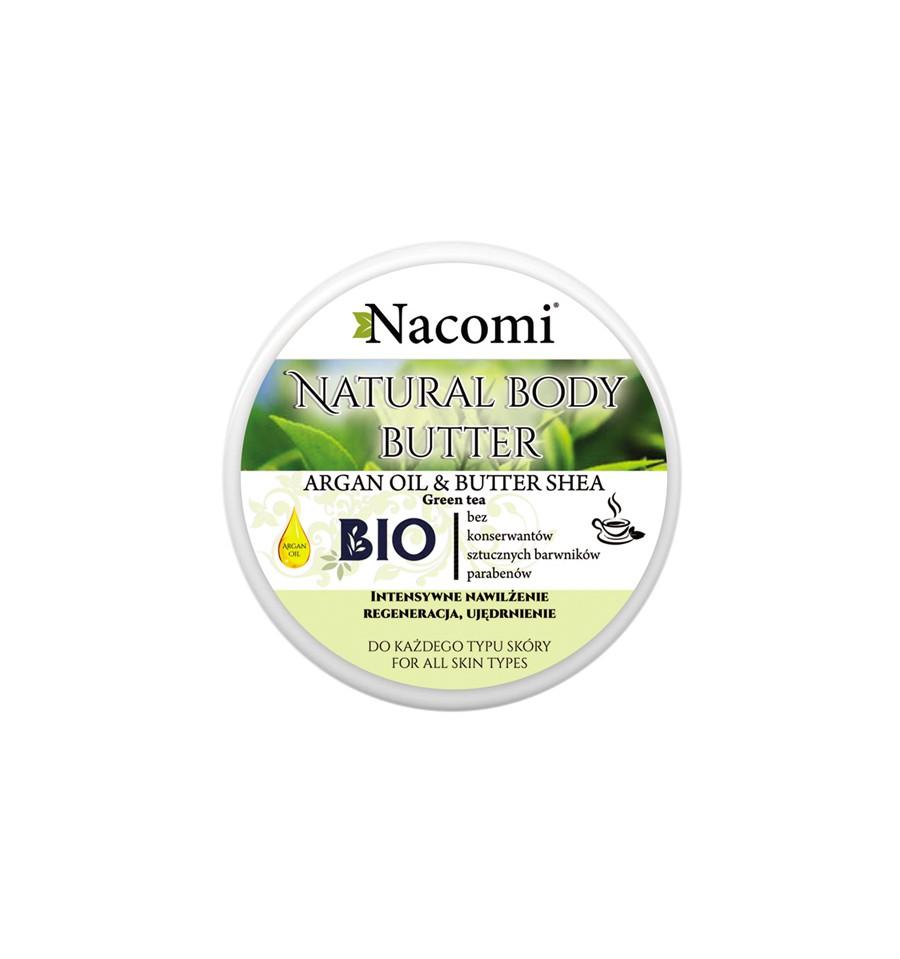 Nacomi, Balsam do ciała o zapachu zielonej herbaty, Masło SHEA&OLEJ ARGANOWY, 100 ml