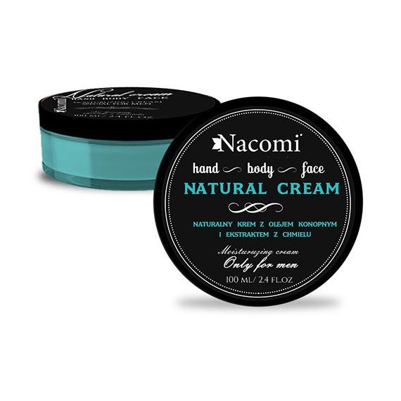 Nacomi, Naturalny krem dla mężczyzn, 100 ml