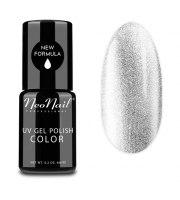 NeoNail, Lakier hybrydowy, Glitter Silver, 6 ml