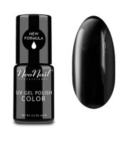 NeoNail, Lakier hybrydowy, Pure Black, 6 ml
