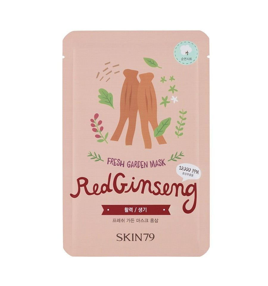 Skin79, Fresh Garden Mask Red Ginseng, Maska w płacie
