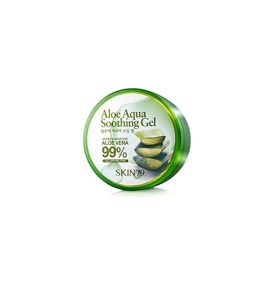 Skin79, Aloe Aqua Soothing Gel, Łagodzący żel aloesowy, 300 g