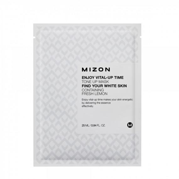 Mizon, Maseczka do twarzy orzeźwiająca, w płacie, Enjoy Vital-Up Time Tone Up, 25 ml