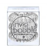 Invisibobble, Gumki do włosów 3 szt., Crystal Clear - przezroczyste