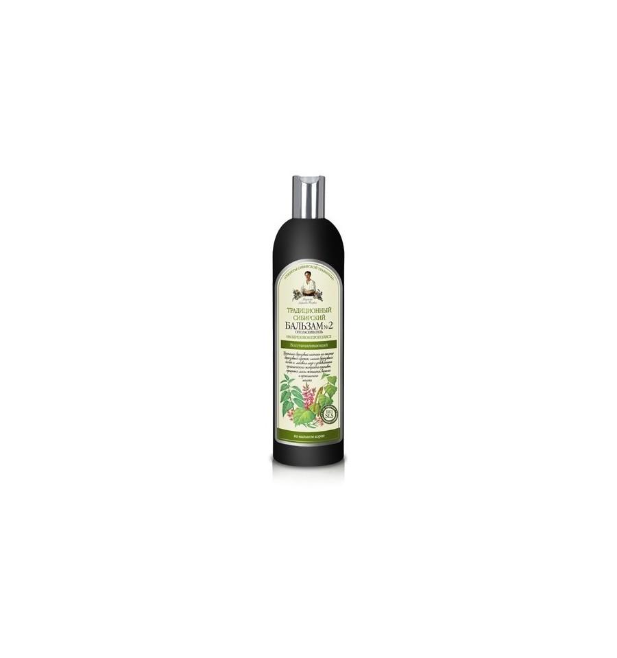 Receptury Babuszki Agafii, Syberyjski balsam do włosów na brzozowym propolisie nr 2, 600 ml