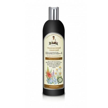 Receptury Babuszki Agafii, Syberyjski szampon na kwiatowym propolisie nr 4, 600 ml