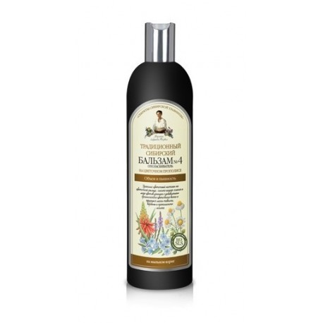 Receptury Babuszki Agafii, Syberyjski balsam do włosów na kwiatowym propolisie nr 4, 600 ml