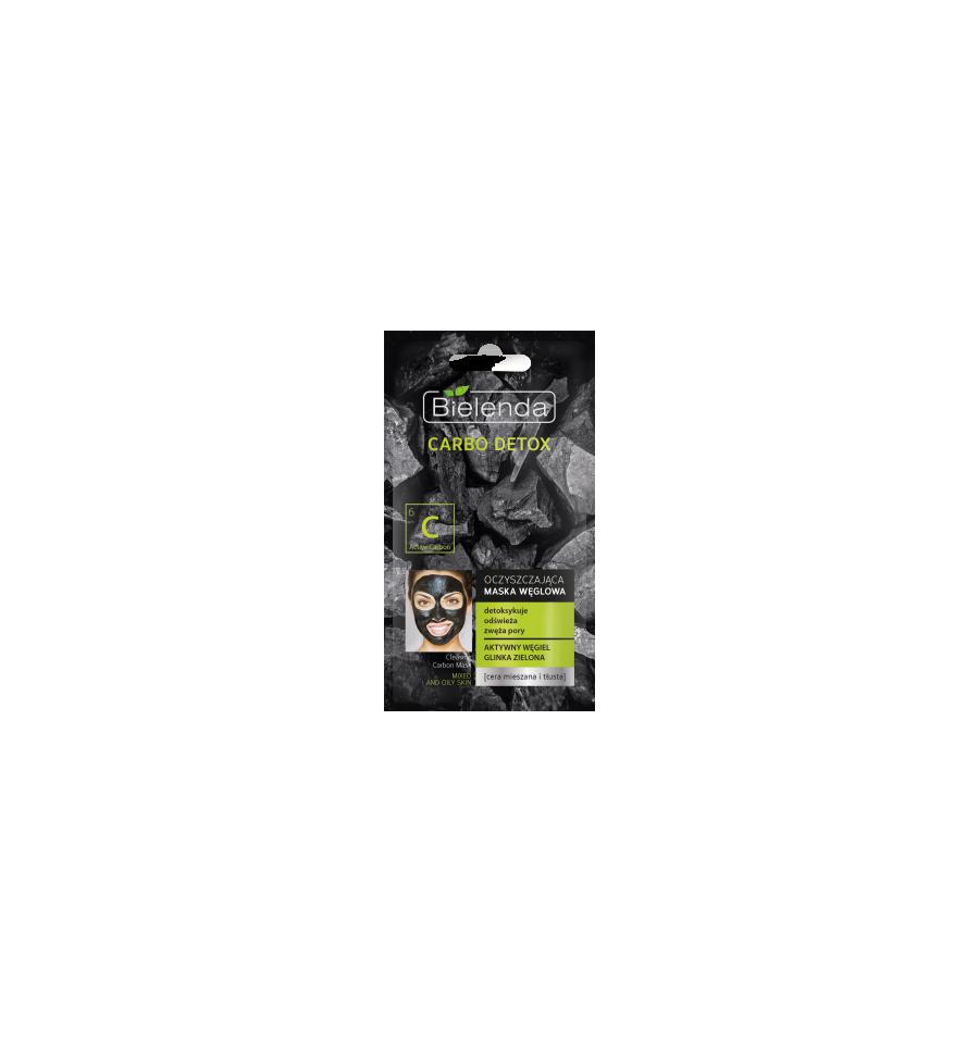 Bielenda, Carbo Detox, Oczyszczająca maska węglowa do cery mieszanej i tłustej, 8 g