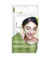 Bielenda, Peeling Gruboziarnisty + GLINKA ZIELONA, 2x5 g