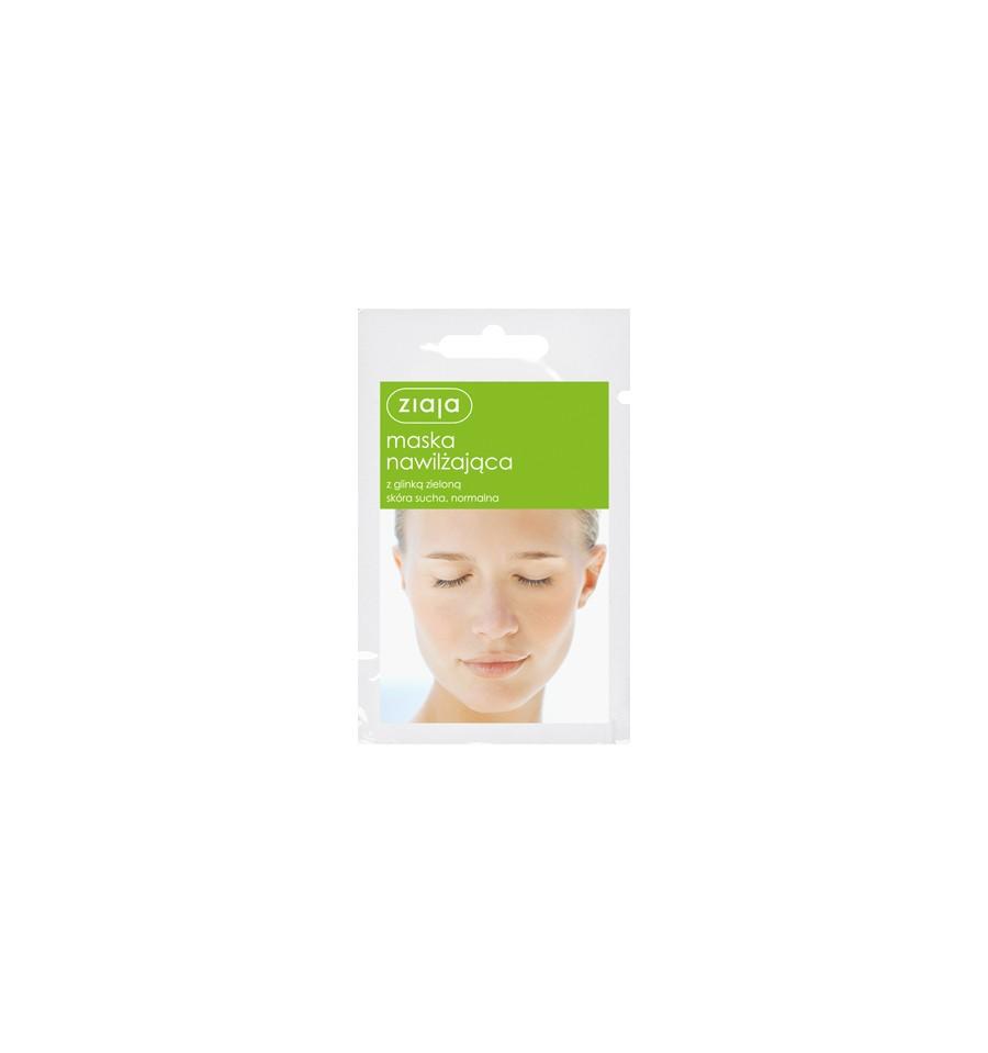 Ziaja, Maska nawilżająca z glinką zieloną, 7 ml