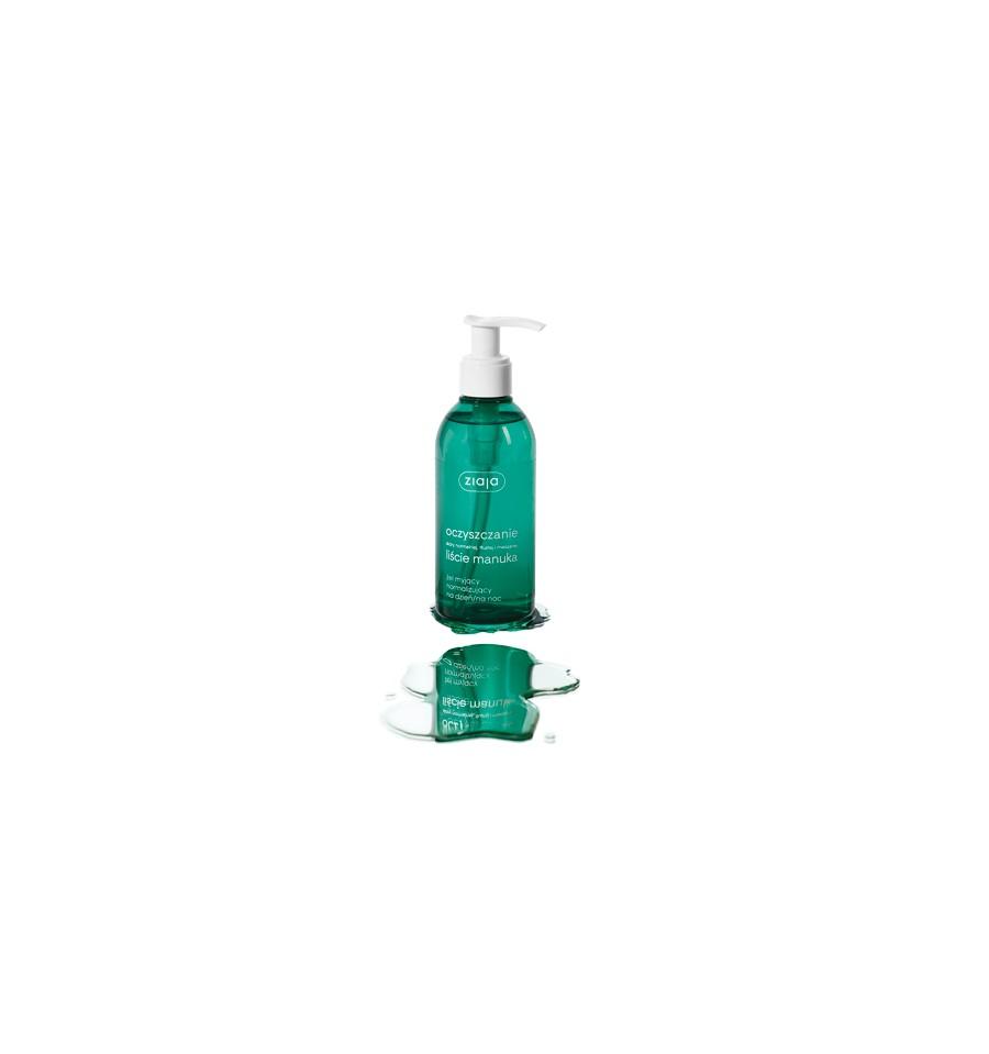Ziaja, LIŚCIE MANUKA, Żel myjący normalizujący na dzień/noc, 200 ml