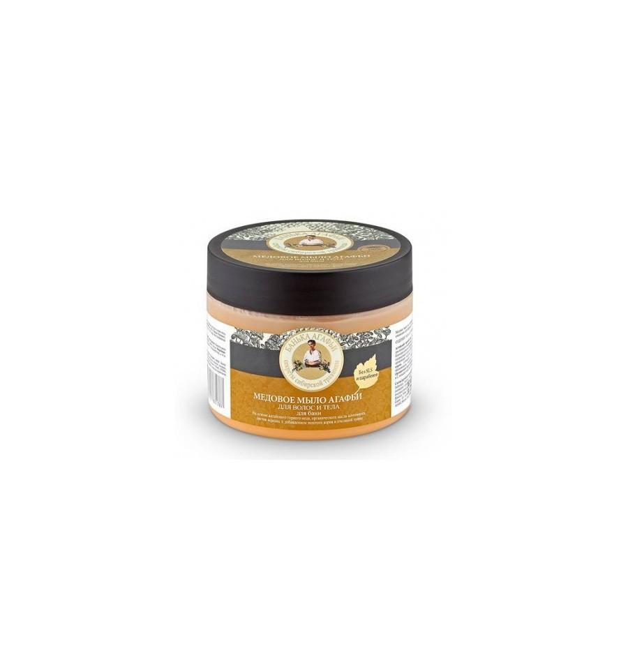 Bania Agafii, Mydło do włosów i ciała, miodowe, 300 ml