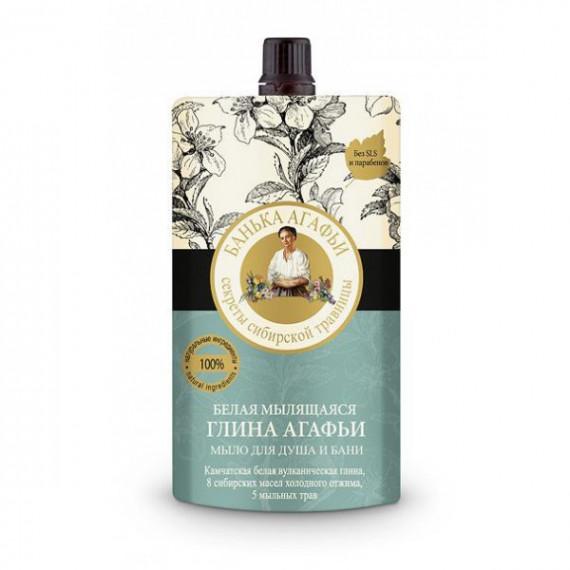 Bania Agafii, Biała glinka myjąca do ciała i włosów, 100 ml