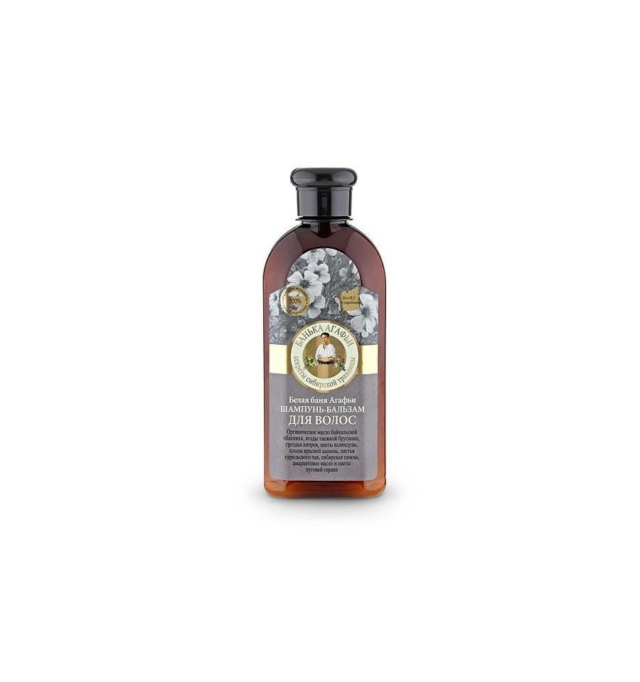Bania Agafii, Szampon -balsam do włosów, Biała kąpiel Agafii, 350 ml