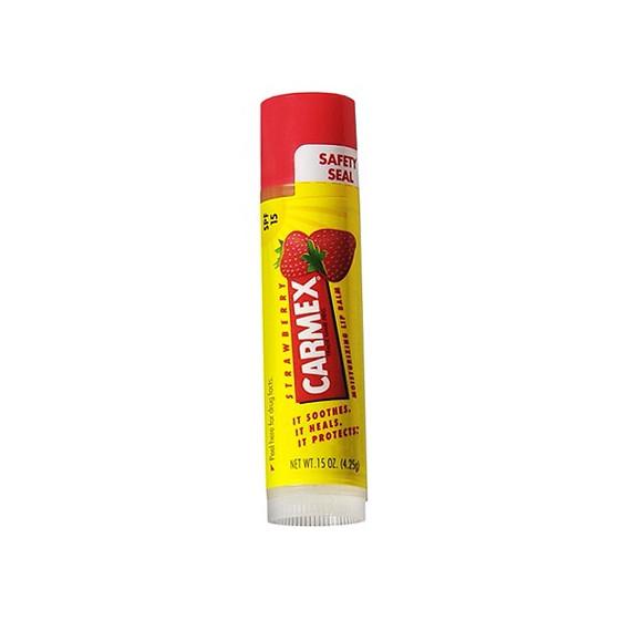 Carmex, Balsam do ust Truskawkowy SPF 15 w sztyfcie, 4,25 g