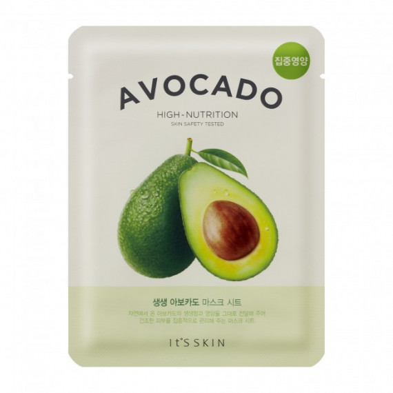 It's Skin, The Fresh Mask Sheet Avocado, Maseczka w płacie