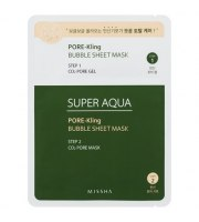 Missha, Super Aqua Pore Kling Bubble Sheet Mask, 15 g