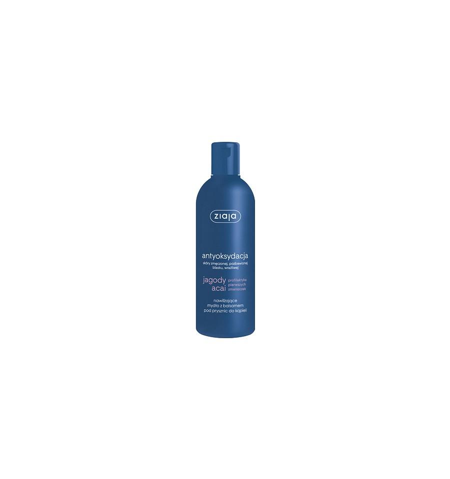 Ziaja, JAGODY ACAI, Nawilżające mydło z balsamem pod prysznic, 300 ml