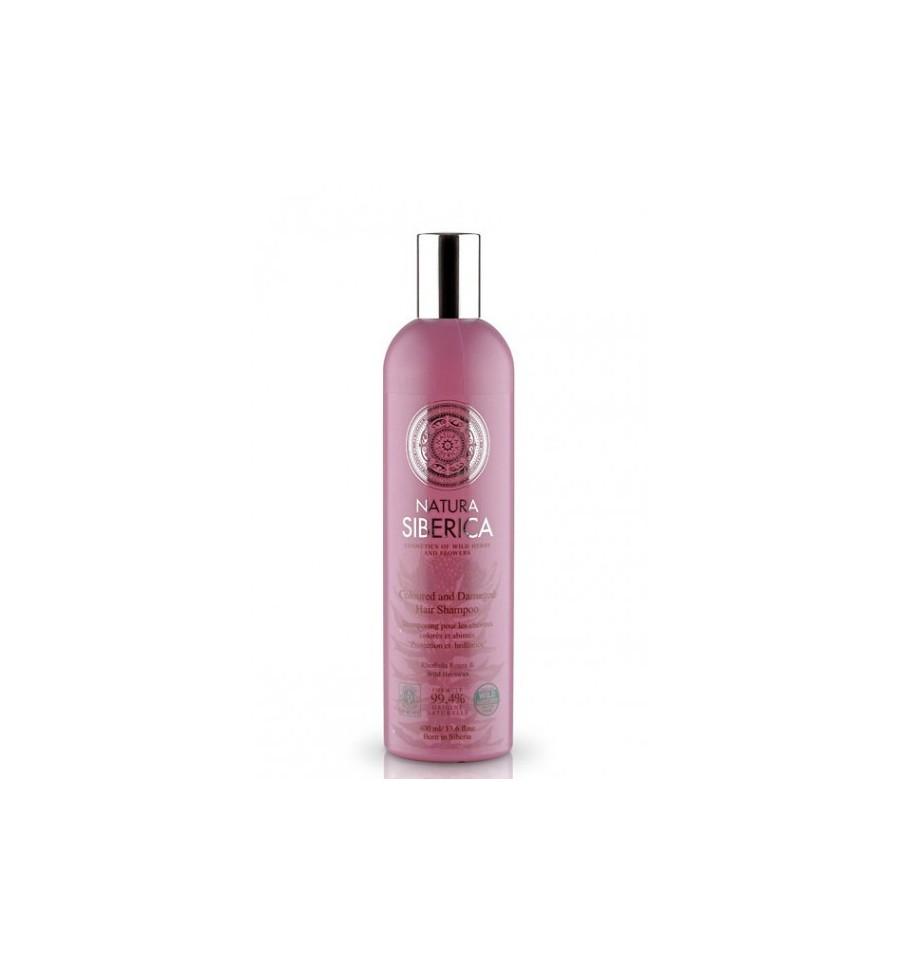 Natura Siberica, Szampon Ochrona i blask, dla włosów farbowanych i zniszczonych, 400 ml