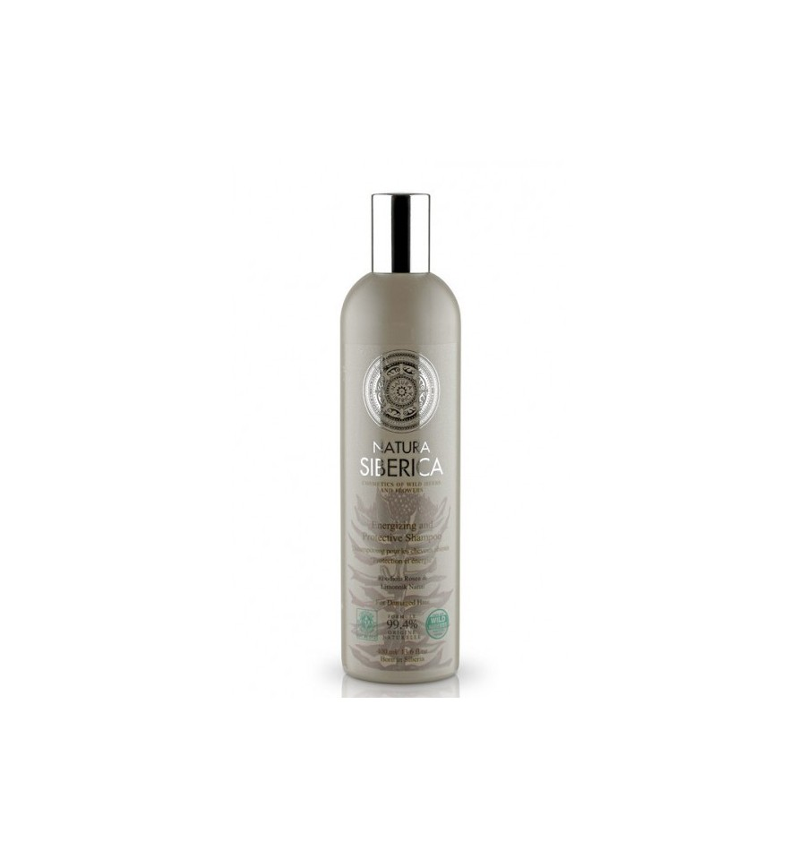 Natura Siberica, Szampon Ochrona i energia, dla włosów osłabionych i zniszczonych, 400 ml